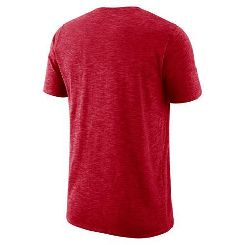 NCAA Arizona Wildcats Nike Dri Fit Cotton Slub Sideline Tee  - Red