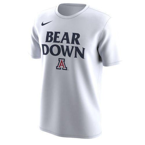 NCAA ARIZONA WILDCATS DRI FIT LEGEND COLLEGE NIKE TEE - WHITE