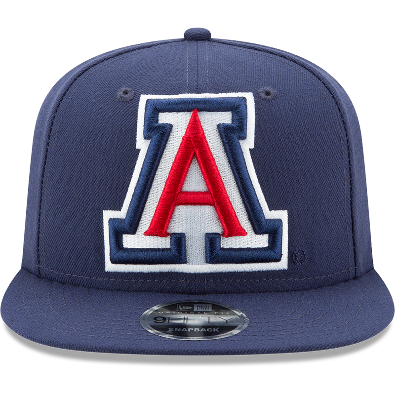 Arizona Wildcats Blue Logo Grand New Era 9FIFTY Front View