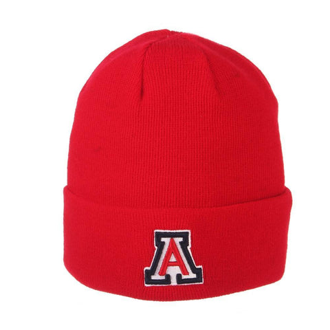 "NCAA Arizona Wildcats ""A"" Zephyr Cuff Knit - Red"