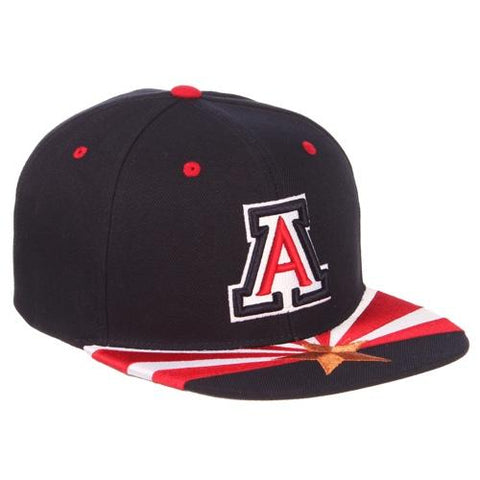 NCAA Arizona Wildcats State Flag Bill Snapback - Navy