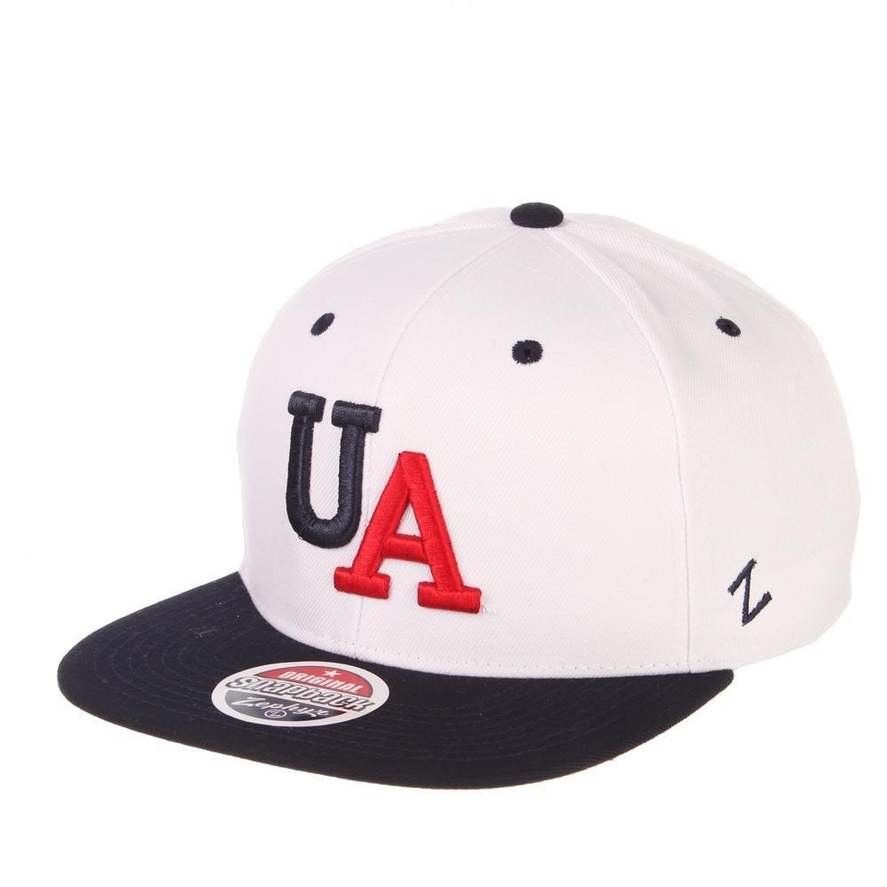 "NCAA Arizona Wildcats 32/5 2 Tone ""UA"" Zephyr Adjustable - White"