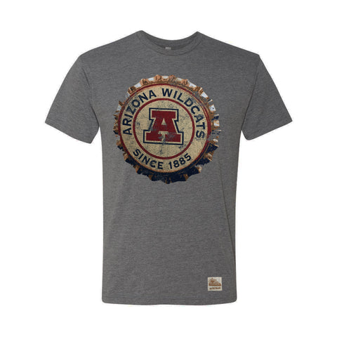 Arizona Wildcats Bottle Cap Triblend Logo Tee - Grey