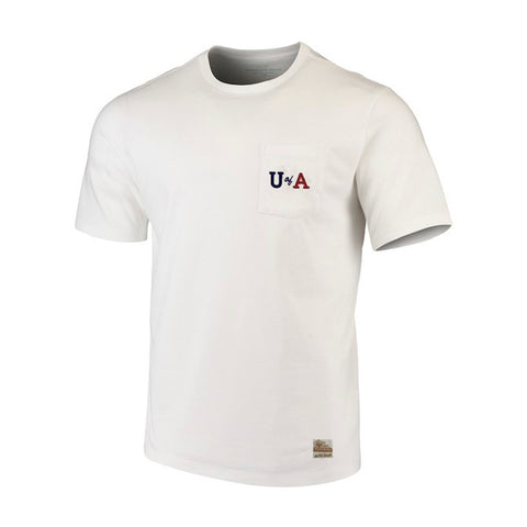 NCAA ARIZONA WILDCATS HEAVYWEIGHT POCKET RETRO BRAND TEE - WHITE