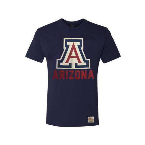 "Arizona Wildcats Big ""A"" Distressed Logo Tee - Navy"