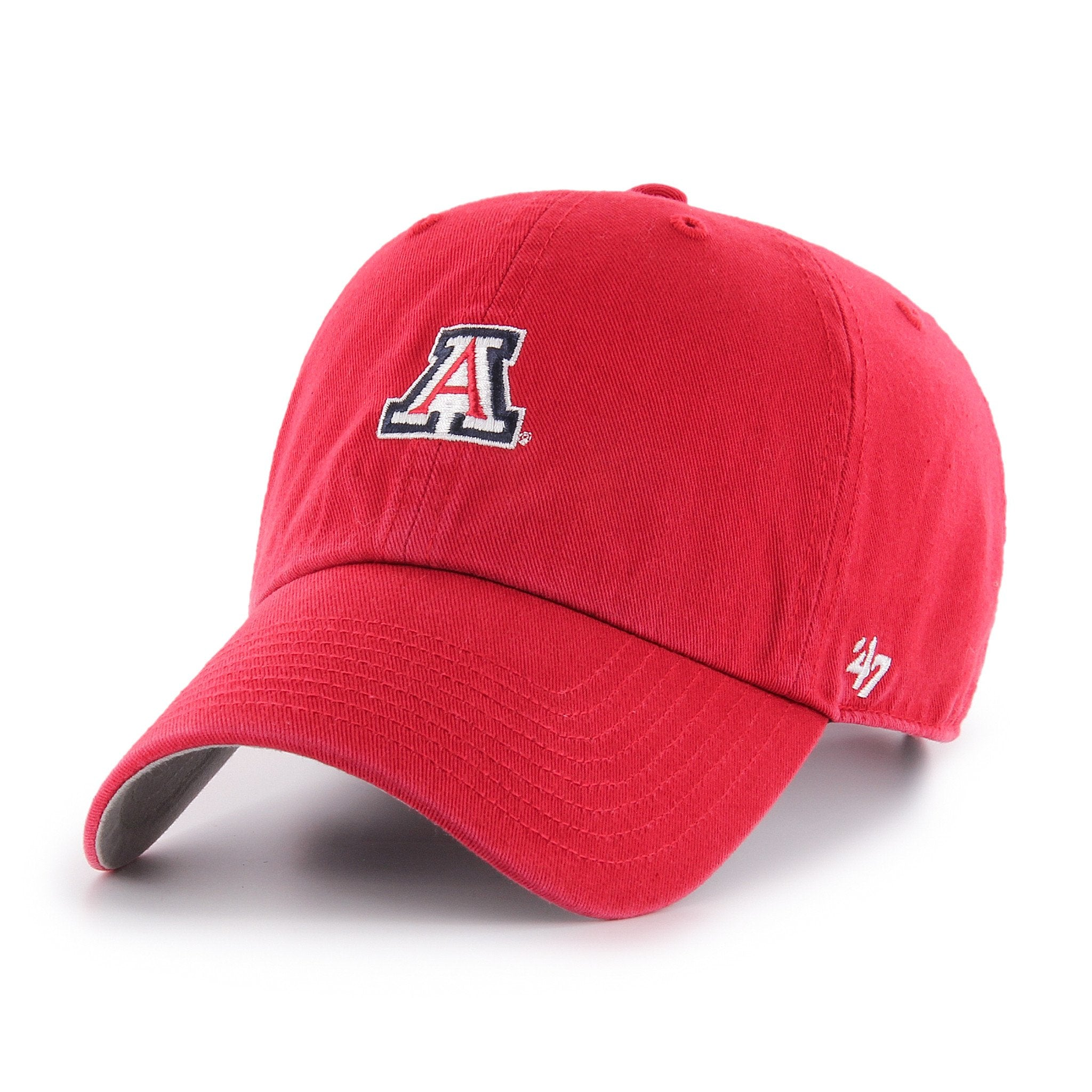 NCAA Arizona Wildcats  Elite Baserunner Red '47 CLEAN UP JSE Hat Front View