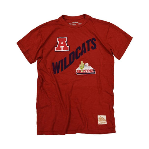 NCAA ARIZONA WILDCATS VAULT SLUB RETRO BRAND TEE - RED