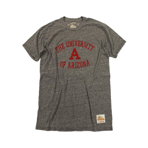 "NCAA ARIZONA WILDCATS TRIBLEND ""A"" VAULT RETRO BRAND TEE - GREY"