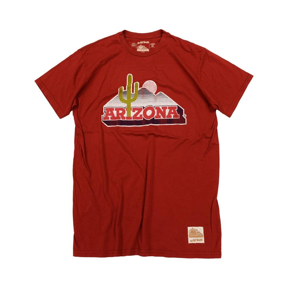 NCAA ARIZONA WILDCATS FLOOR LOGO RETRO BRAND TEE - RED