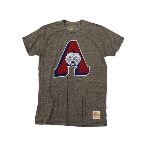 NCAA ARIZONA WILDCATS TRIBLEND VAULT RETRO BRAND TEE - CHARCOAL
