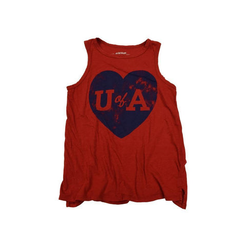 NCAA ARIZONA WILDCATS WOMEN'S SPLIT BOTTOM RETRO BRAND TANK - RED