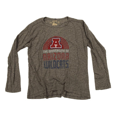 2db5df5c359 NCAA ARIZONA WILDCATS WOMEN'S RELAXED RETRO BRAND LS TEE- GREY