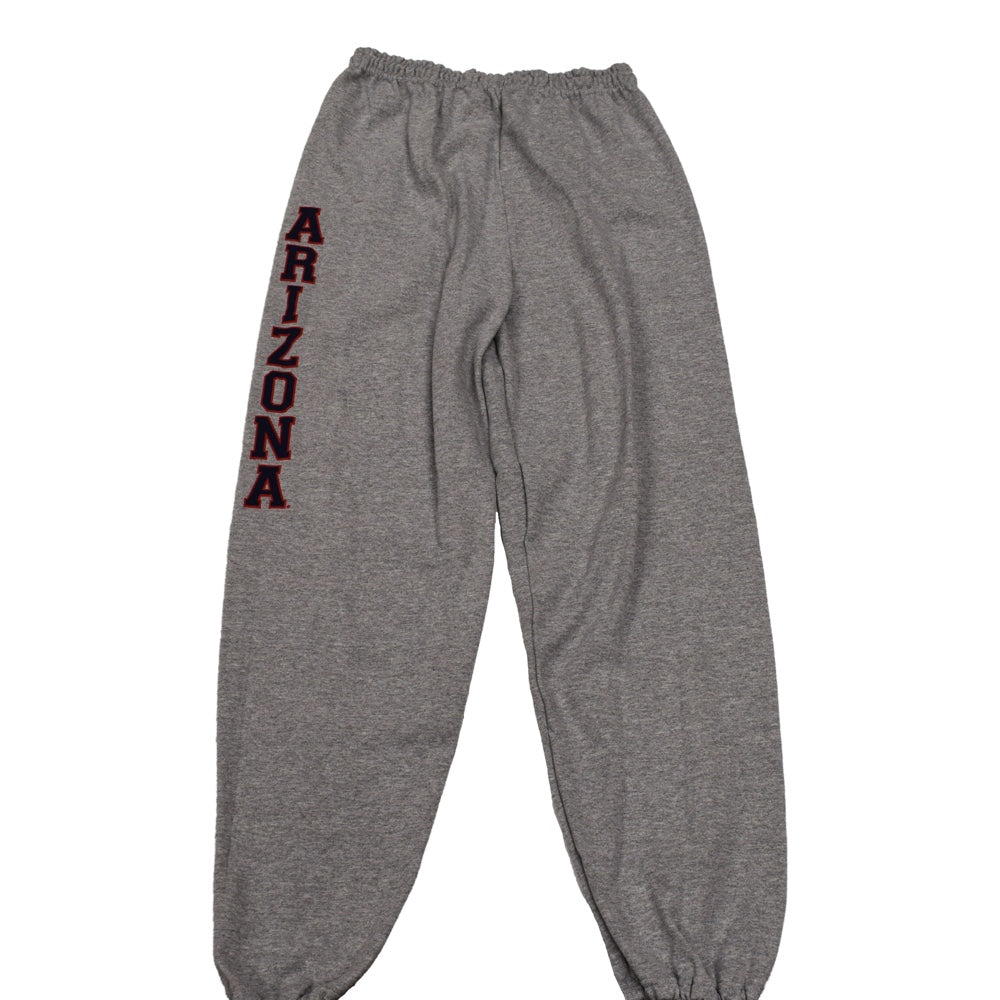 NCAA ARIZONA WILDCATS VERTICAL NAME CAMPUS ATHLETIC SWEATPANTS - GREY