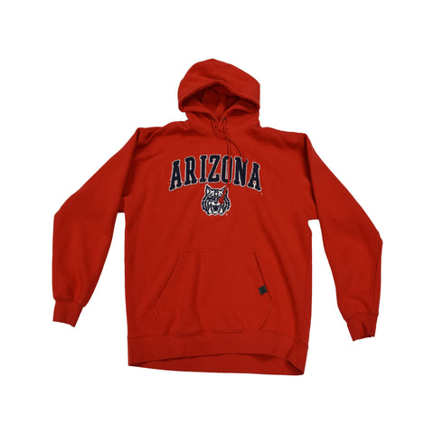 NCAA ARIZONA WILDCATS TACKLE TWILL BLUE 84 PULL OVER HOODIE - RED