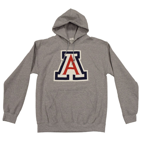 NCAA ARIZONA WILDCATS YOUTH CAT ON BACK PULLOVER NEW AGENDA HOODIE - GREY