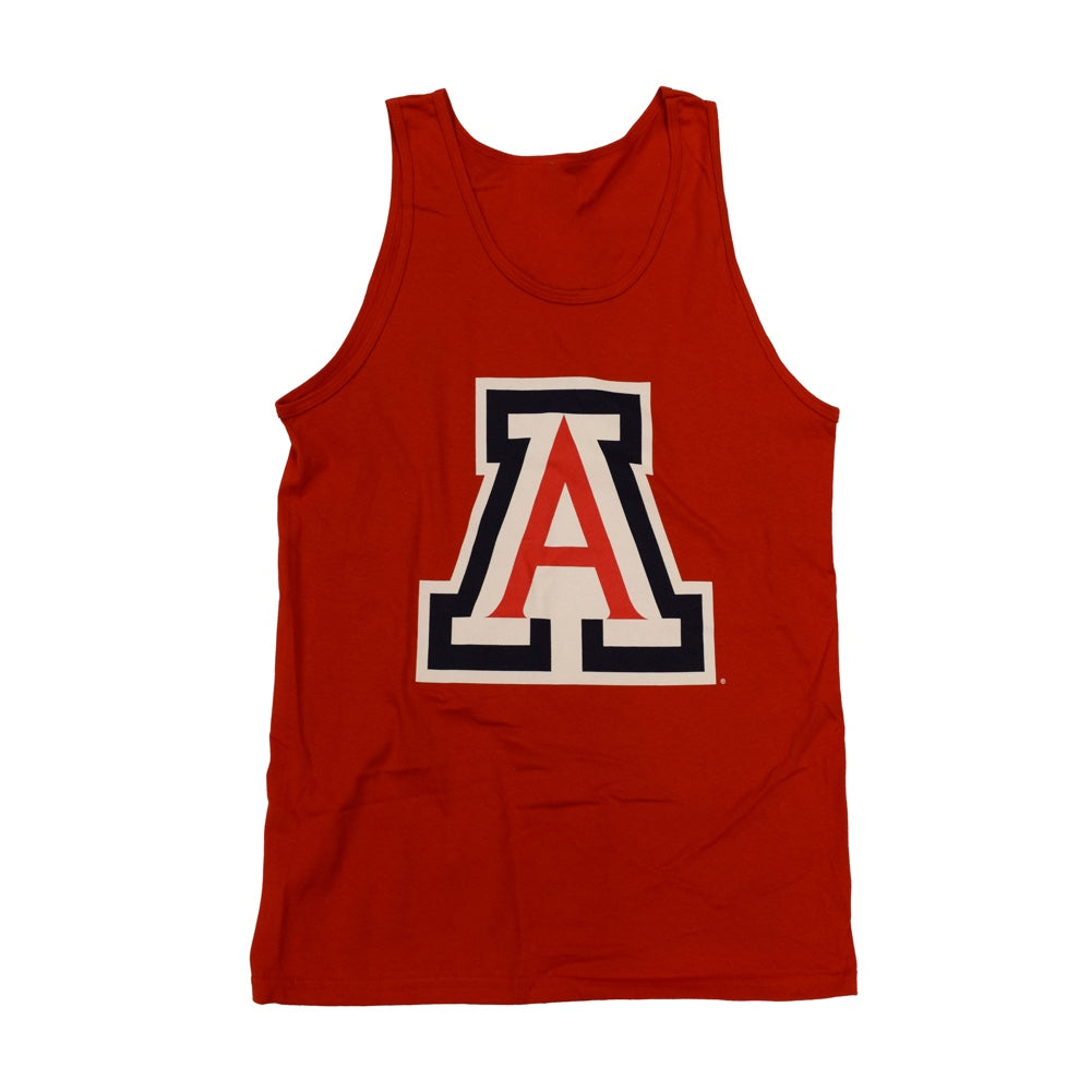 NCAA ARIZONA WILDCATS BIG CLEAN NEW AGENDA TANK - RED