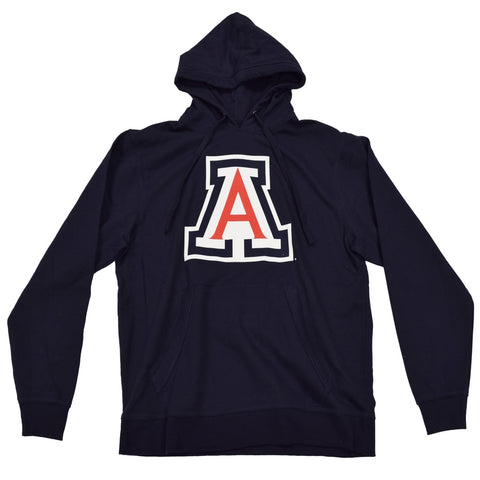 NCAA ARIZONA WILDCATS YOUTH CAT ON BACK PULLOVER NEW AGENDA HOODIE - NAVY