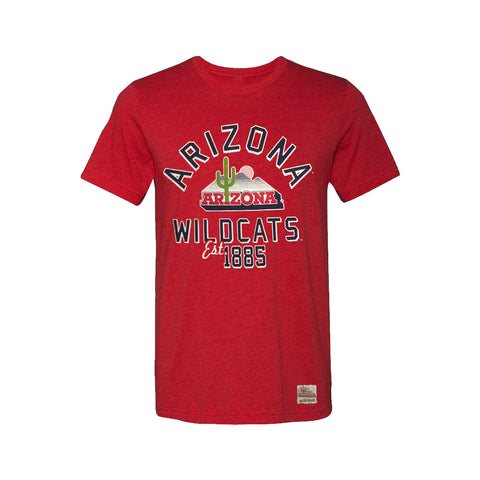 Arizona Wildcats EST Floor Logo Tee - Red