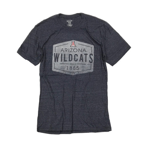 NCAA ARIZONA WILDCATS COMEBACK BLUE 84 TEE - NAVY