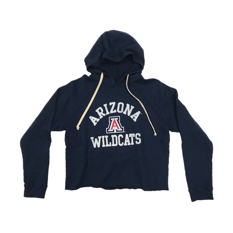 NCAA Arizona Wildcats Women's Retro Brand Cropped Fleece Hoodie
