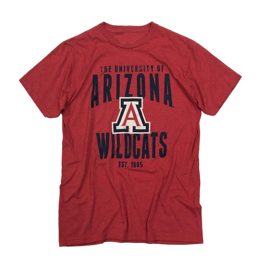 NCAA Arizona Wildcats Distressed EST Tee - Red