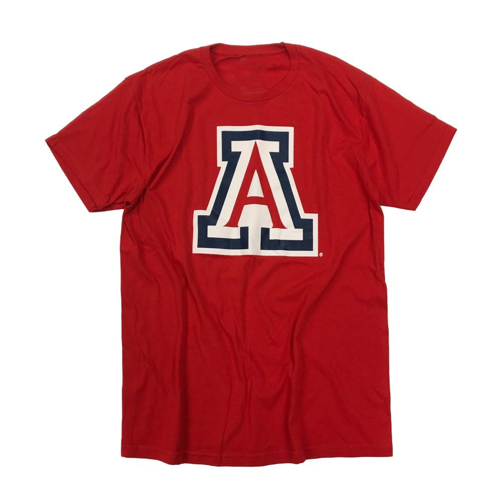 "NCAA Arizona Wildcats Cotton Big ""A"" Logo Tee - Red"