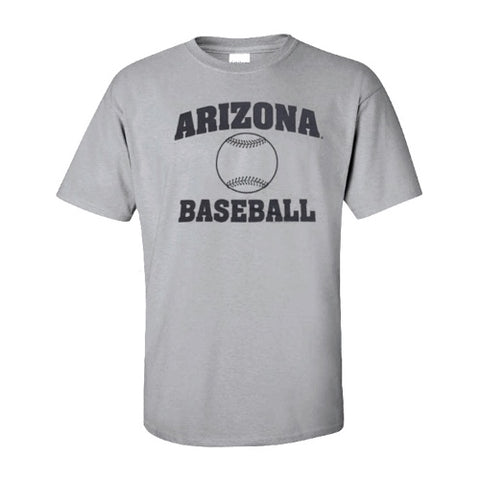 NCAA Arizona Wildcats Baseball Tee - Grey