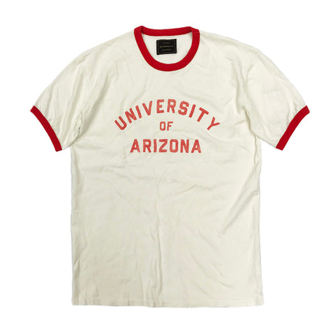 NCAA Arizona Wildcats Retro Brand Destroyed Tee - White