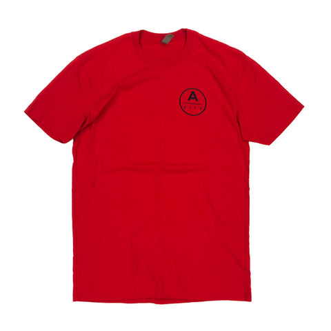 A-City Kimball Concepts Navy Logo Tee - Red