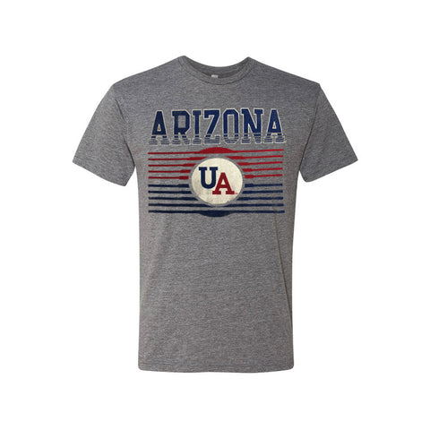 Arizona Wildcats Stripped Logo Tee - Grey