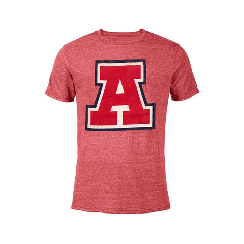 Arizona Wildcats Vault A Tri Blend Retro Brand Tee - Red
