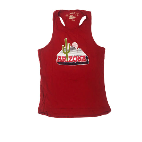 Arizona Wildcats Women's Floor Logo Tank - Red