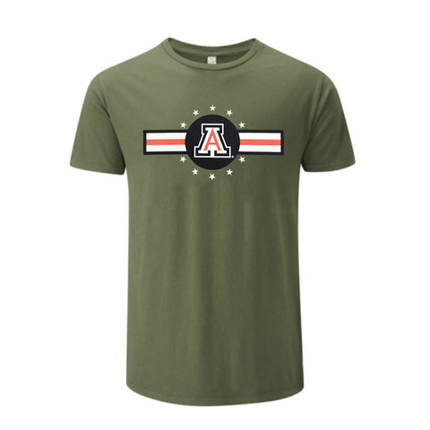 NCAA Arizona Wildcats Victory Veterans Day Stripe Tee - Green
