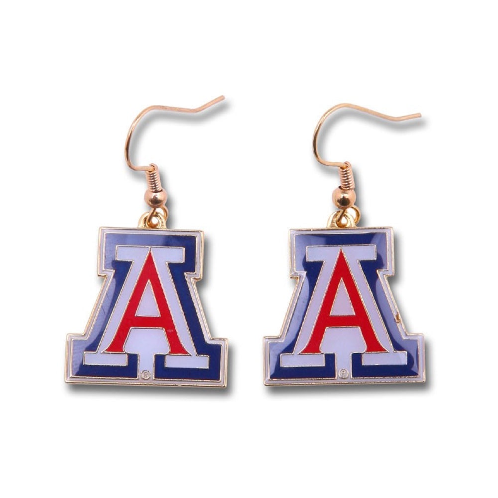 NCAA ARIZONA WILDCATS AMINCO LOGO DANLGER EARRINGS