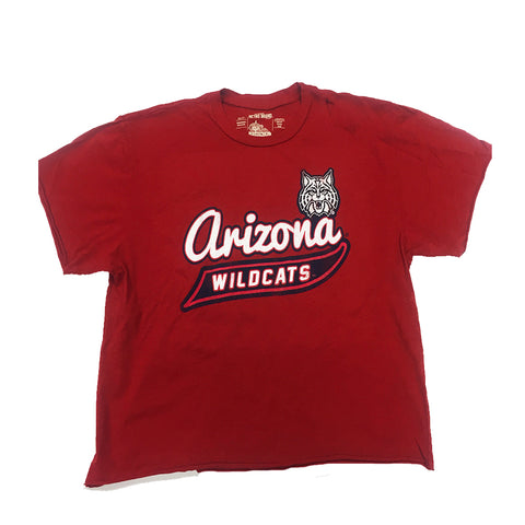 NCAA Arizona Wildcats Women's Cat Banner Tee - Red