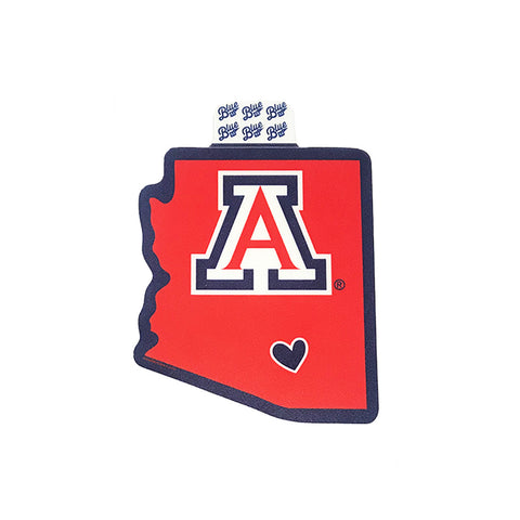 NCAA Arizona Wildcats Blue 84 Relish State Decal