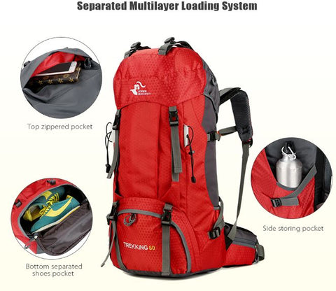 Hiking and outdoor backpack for hiking camping backpacking