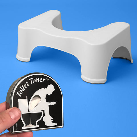 squatty potty and toilet timer