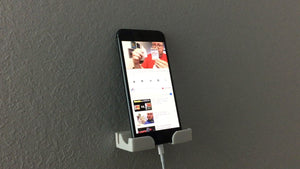 Smart Phone Wall Dock (Black) with Command™ Strips