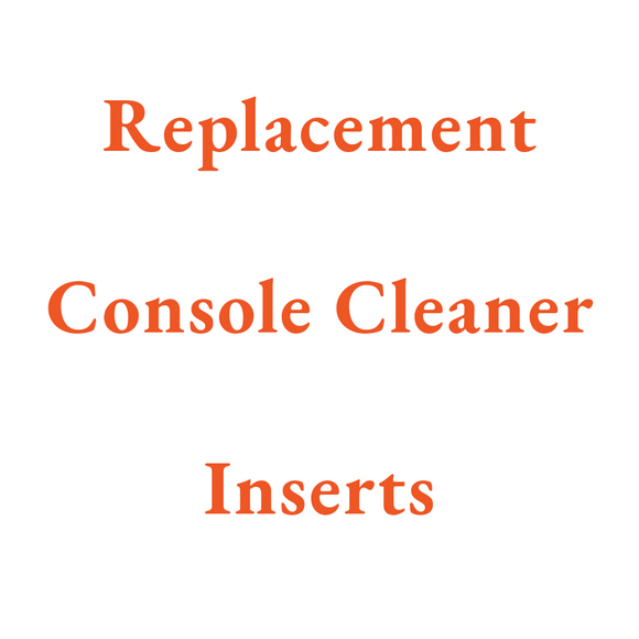 Replacement Console Cleaner Inserts