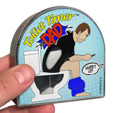 Toilet Timer for dad funny fathers day gift by Katamco 1 holding toilet timer in hand