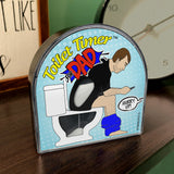 Toilet Timer for dad funny fathers day gift by Katamco 2 toilet timer in bathroom