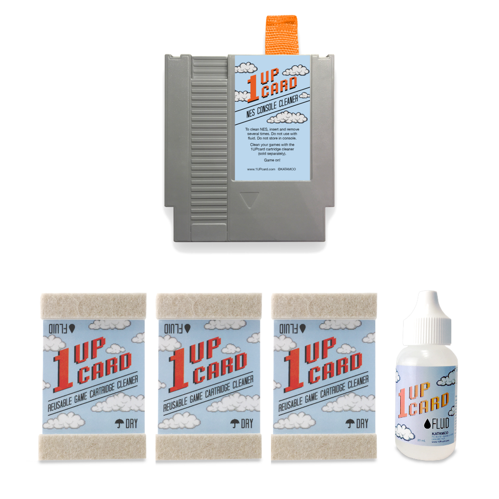 NES Cleaning Kit by 1UPcard - Console and Game Cartridge Cleaner Bundle - (save 15%)