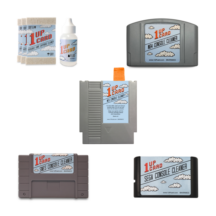 1UPcard Mega Pack - Retro game and console cleaning kit