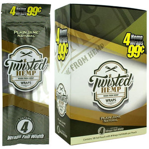 Twisted Hemp Blunt Wraps | 4 Wraps Per Pack | Multiple Flavors! | Twisted Hemp | HIGHEST QUALITY HEMP PRODUCTS | St. Margaret's Holistic Remedies, LLC | Organically Grown American Industrial Hemp | CBD Near Me