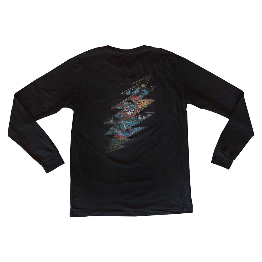 Grateful Dead x TGR Night Waves Long Sleeve by Chris Benchetler