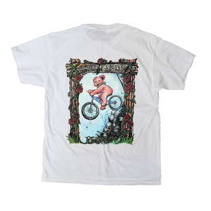 TGR x Grateful Dead Air Bear White Tee by Peter Forsythe