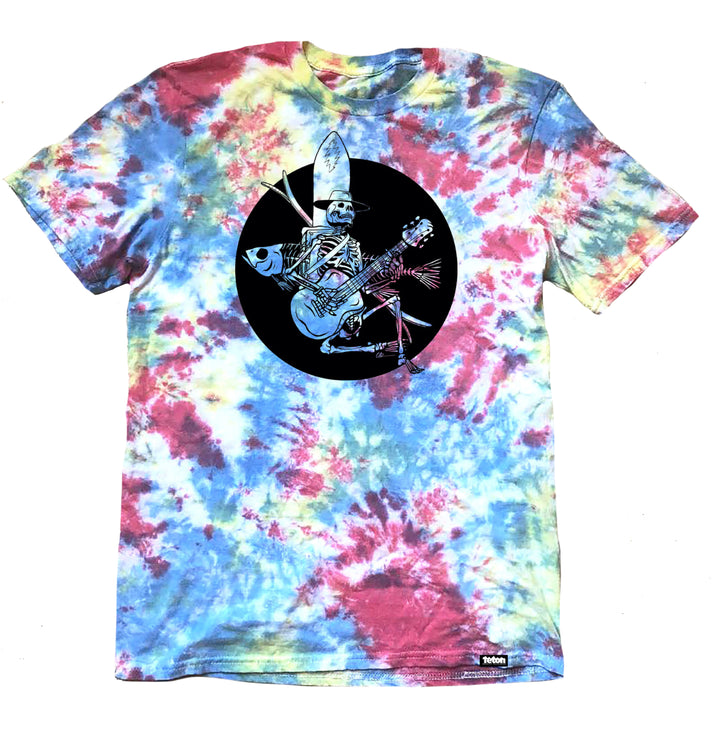"Grateful Dead x TGR by Chris Benchetler ""Skelly Jams"" Tie Dye T-Shirt"