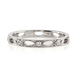 PLATINUM ETERNITY BAND WITH 0.20CT OLD EUROPEAN CUT DIAMONDS | SINGLE STONE