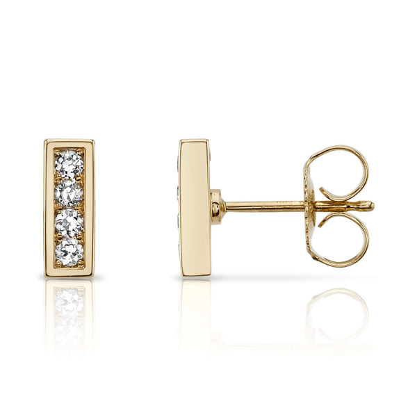 PAVE MONET STUDS - SINGLE STONE